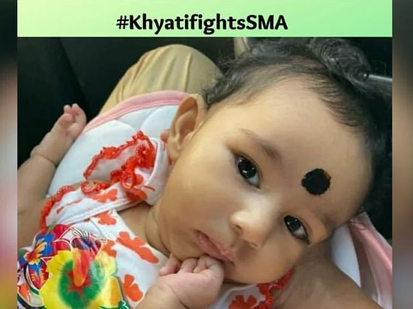 Help Khyati, 8 months old fighting with Spinal Muscular Atrophy Type 1