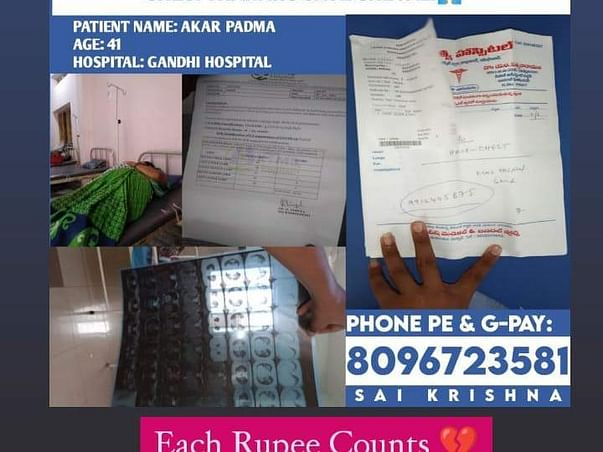 Support Akar Padma 41yrs Recover From Covid-19 & Black Fungus