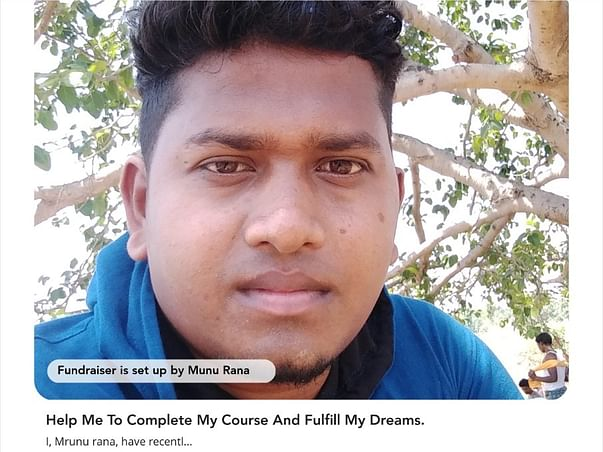 Help Me To Complete My Course And Fulfill My Dreams.