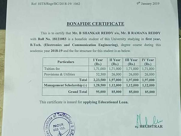 Help A B.tech Final Year Student For His Fee.