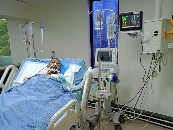 Support my father jafer to fight lung infection due to covid