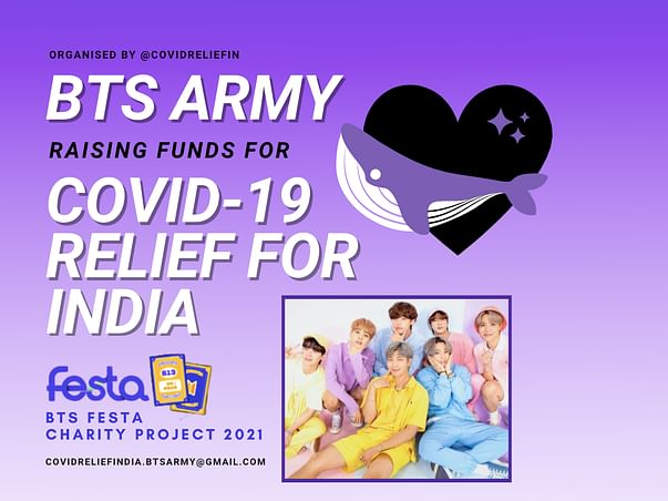 Covid Relief India - Festa Project'21 by BTS army