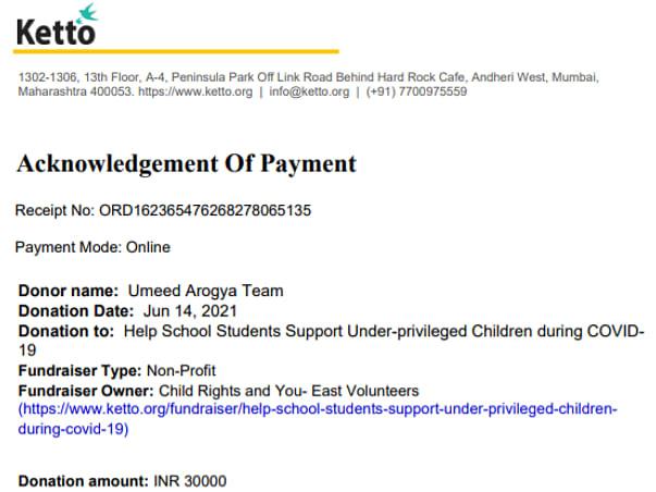 Project Umeed आरोग्य