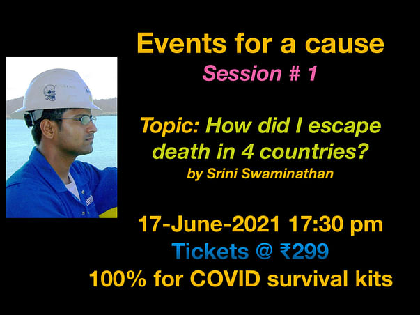Events for a cause - Session # 1 by Srini Swaminathan