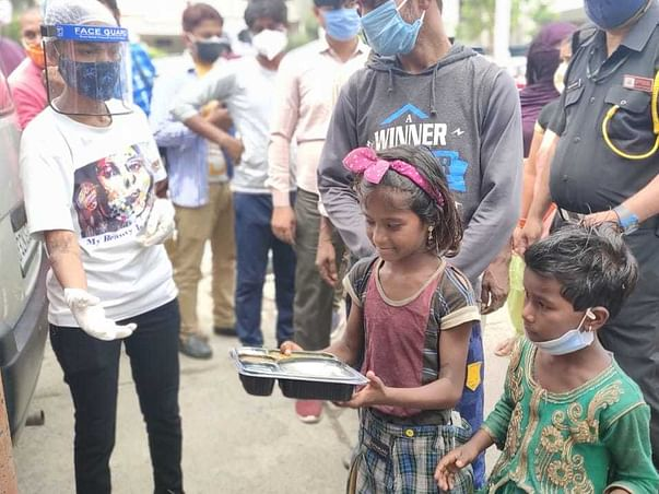 Support Food Distribution Drive by Acid Attack Survivors