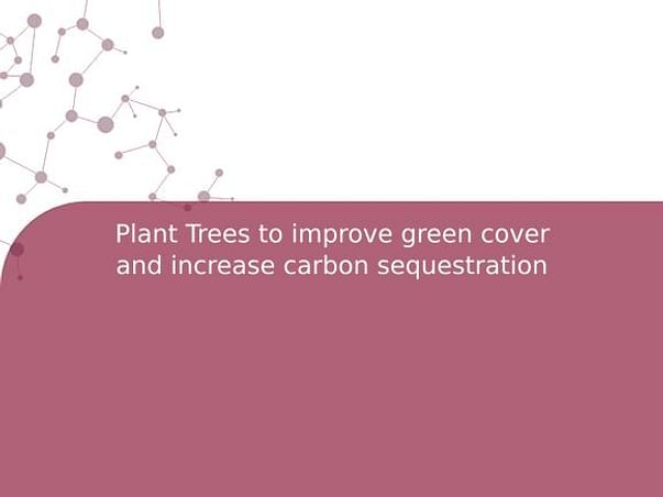 Plant Trees to improve green cover and increase carbon sequestration