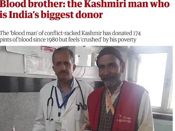 India's Biggest Blood Donor: Mr Khan Fundraising Campaign