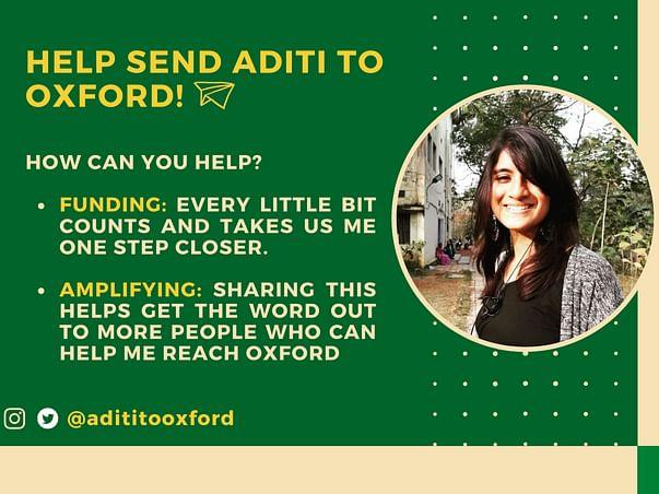 Help Send Aditi to Oxford