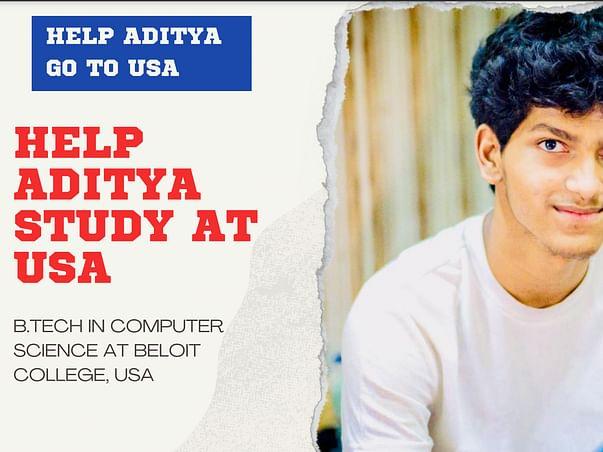 Help Aditya Study At Beloit College, USA