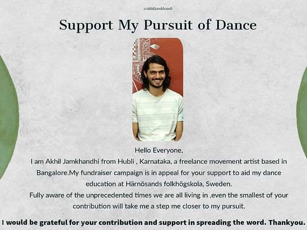 Support My Pursuit Of Dance