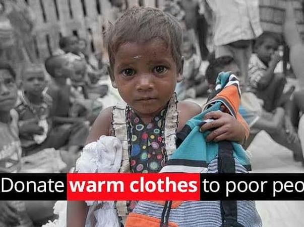Clothes donation to poor people