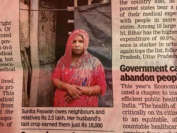 Help Sunita Paswan Clear Her Husbands Covid Medical Bills