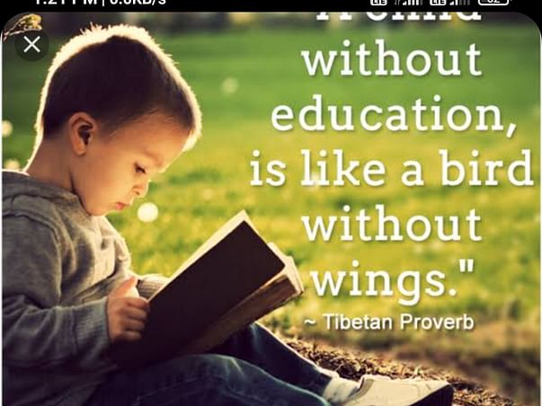 Let us resolve that no child will be deprived of education..