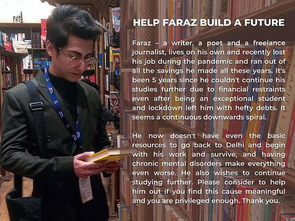 Help Faraz Survive and Build a Future