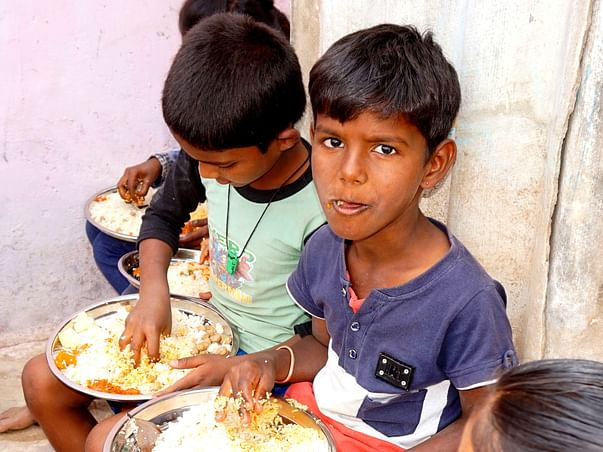 Help Lalitha to Feed Poor Kids