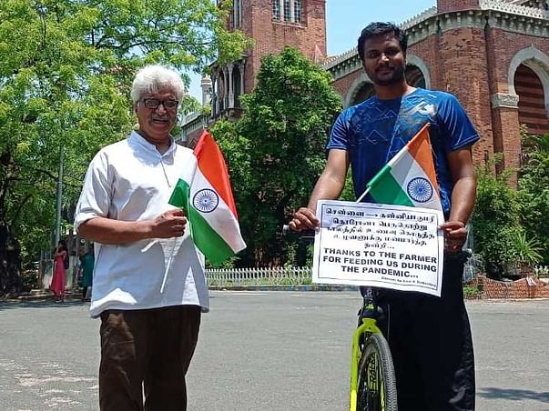 Thank You Farmers, Cycling 1000+ kms to say Thank you.