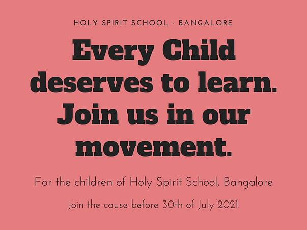 Help The Students Of Holy Spirit Continue Their Education