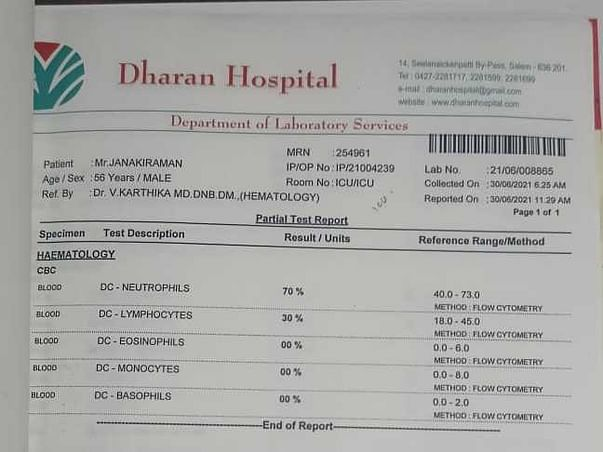 Help Janakiram For Fight Against Liver damage And vit b12 deficiency