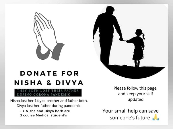 Support Nisha And Divya To Help Them Complete Their MBBS Studies.