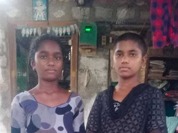 HELP GAYATHRI AND ANAJALI LOSS OF PARENTS AND GUARDIENS