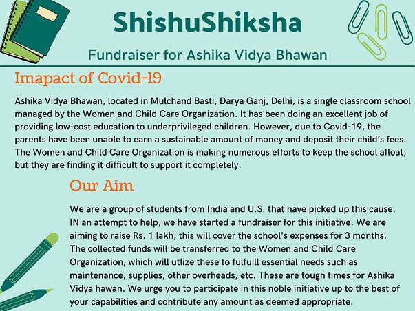 ShishuShiksha - Support Ashika Vidya Bhawan