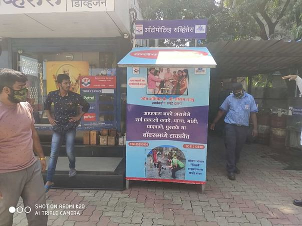 Placement of clothes, E-waste & Plastic collection Box
