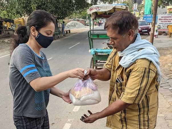 Weekly food distribution to daily wage earners