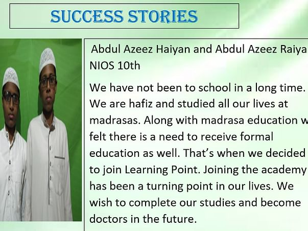 Support Us On The Path To Education.