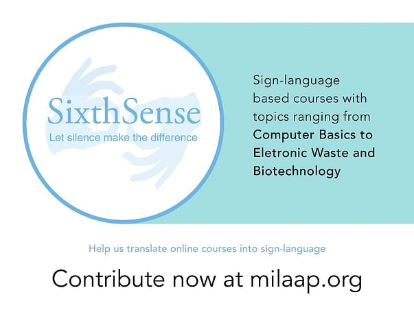 SixthSense@Codeshala: Creating Courses for the Deaf and Mute