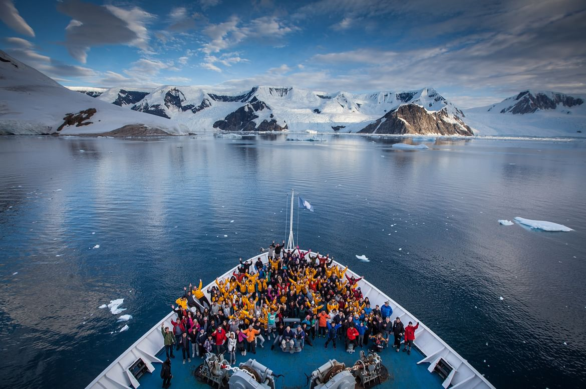 Group picture onboard an earlier expedition. I hope to a part of this photograph next year