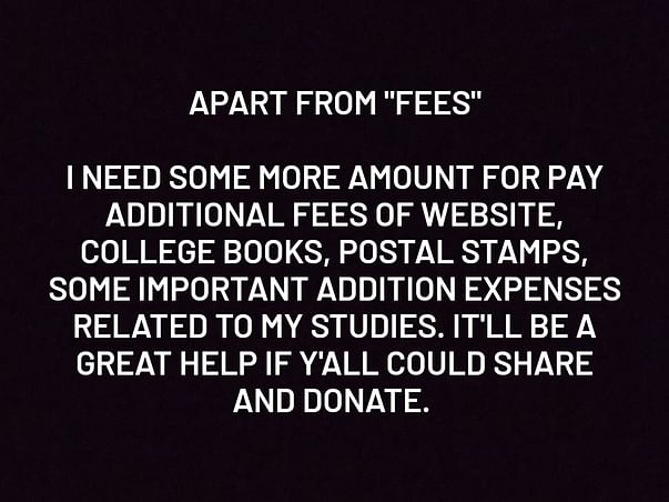 Help Rizwan To Pay His College Fees