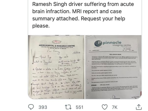 Help Ramesh Through Paralysis