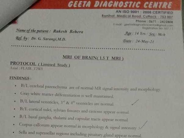 Support Rakesh Behera To Undergo With Face Paralysis Surgery