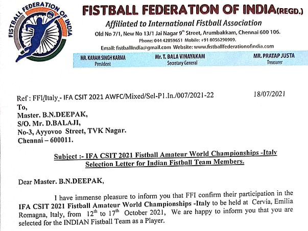 Help Deepak To Participate In Indian Fistball Team 🇮🇳
