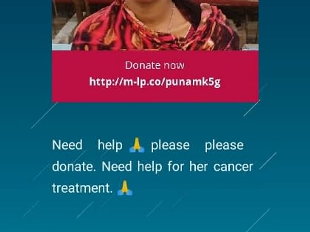 Need Help🙏Please donate,Support Punam To Recover From Ovarian Cancer
