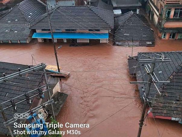 Flood In Raigad Maharashtra, India.