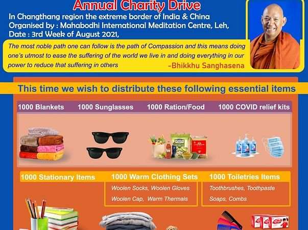 Annual Charity Prog for people of Changthang(Ladakh) near China border