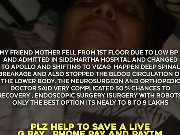 Help Lakshmi Anjani Devi To Recover From Accidental Injuries