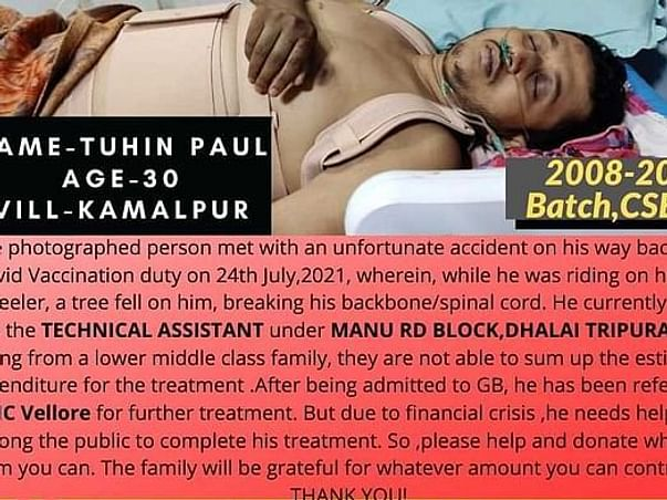 Support Tuhin Paul To Recover From Accidental Injuries
