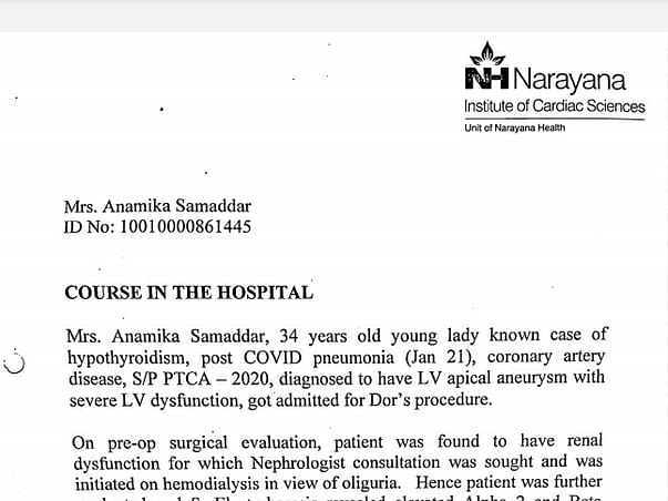 Support Anamika Samaddar To Recover From Cardiac,Lung And Kidney Problem