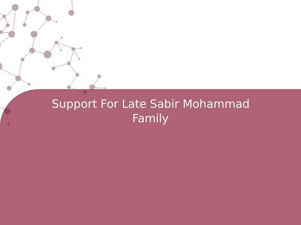 Support For Late Sabir Mohammad Family