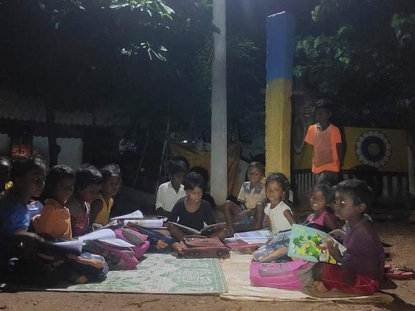 Tribal Settlement Solar Light Installation