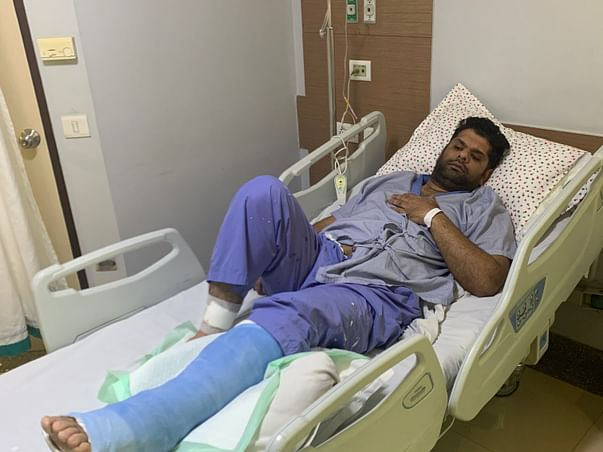 38 years old Varun needs your help fight Multiple fractures in the ankle and save his leg from Amputation