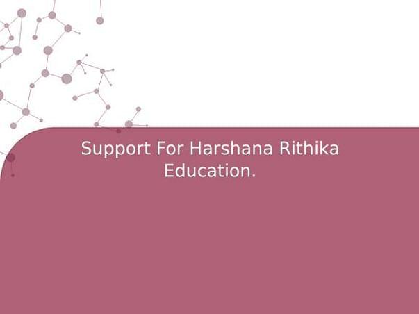 Support For Harshana Rithika Education.