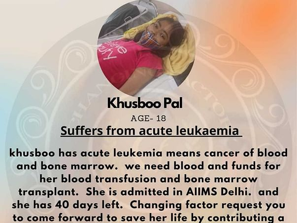 She Is Suffering From Cancer Of Blood And Bone Marrow (LeukemiaCancer)