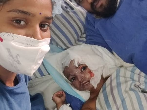 Support Dhanika Recover From Accidental Fire Burn