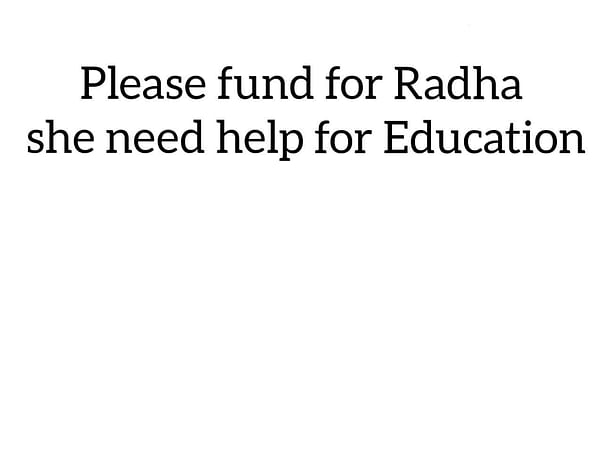 Please Fund This Girl. She Needs For 10th School Fee