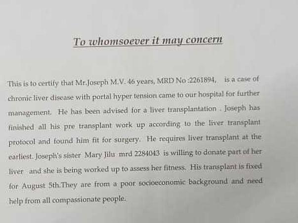 46 Years Old Joseph  Needs Your Help To Undergo Liver Transplantation