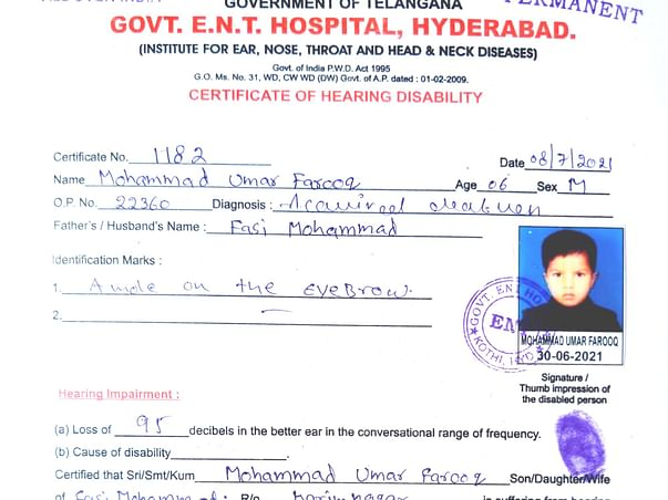 This 6 years old needs your urgent support in fighting Hearing impaired
