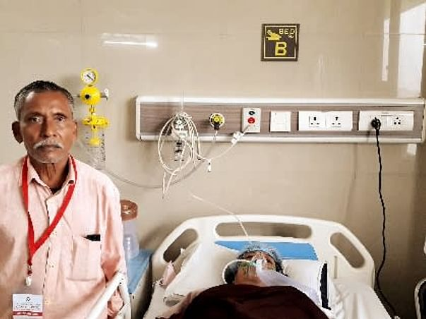 58 years old Kusum Gupta needs your help fight Diffuse haziness seen in both lungs, suggestive of pulmonary edema / ARDS.